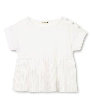 プリーツ切替え半袖Tシャツ