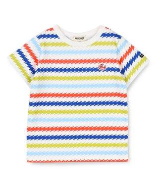 稲妻ボーダー半袖Tシャツ