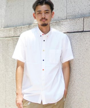 BEAMS / ブロード マルチボタン シャツ