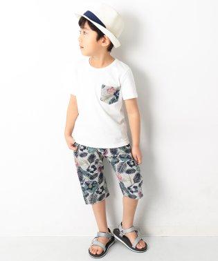 柄ポケットTシャツ&総柄サルエルパンツ セットアップ