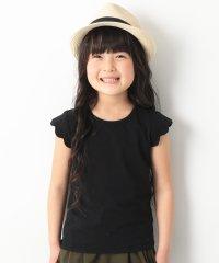 キッズ 子供服 袖スカラップTシャツ 女の子