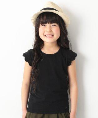 袖スカラップTシャツ 女の子