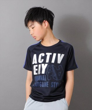 ハニカムメッシュロゴ半袖Tシャツ