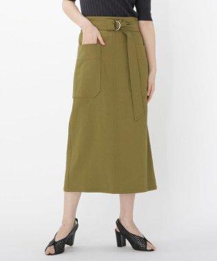 【WEB限定Lサイズあり】【洗える】アウトポケットタイトスカート