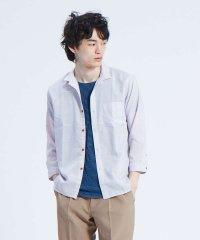 【展開店舗限定】チビ襟 リネン 7分袖シャツ