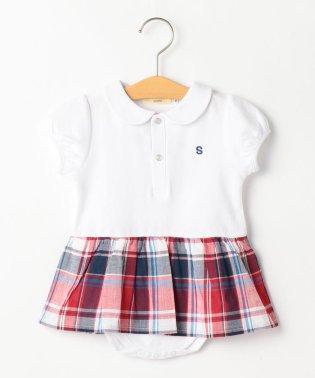 SHIPS KIDS:カノコ チェック スカート ロンパース