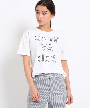 CATE VA BIEN ロゴTシャツ