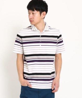 【MADE IN 秋田/M~XXLサイズ】コットンボーダーポロシャツ
