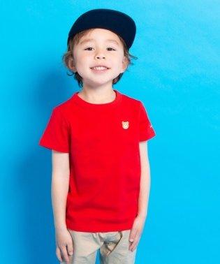 ワンポイント刺繍カラーTシャツ(70~140cm)