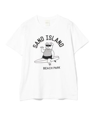 fLAnsisCA ×BEAMS / 別注 プリント Tシャツ2