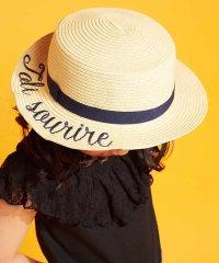 [KIDS]ロゴ刺繍カンカン帽