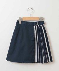 [140-150]ストライププリーツ切り替えスカート