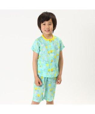 レモンどろぼう楊柳前開きパジャマ