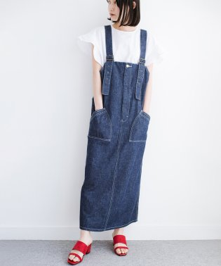 Lady Lee パッチポケットがかわいいジャンパースカート