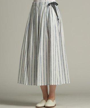 【雑誌掲載】【WEBサイズ別注】絞り染め風ストライプスカート