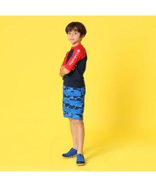【KIDS】サンディショアーズプリンテッドショートスリーブサンガード