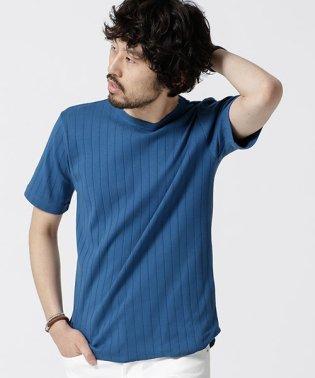 ワイドリブクルーネックTシャツ