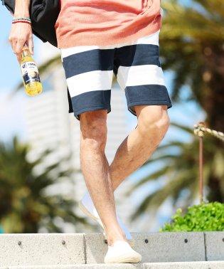 スウェットショートパンツ / スウェット ハーフパンツ メンズ ショートパンツ 短パン 膝上 柄ショーツ