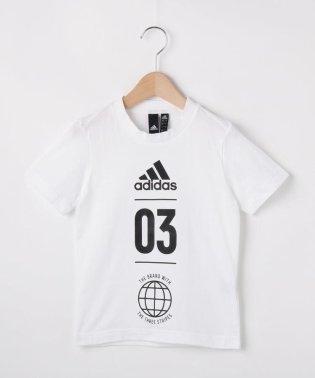 【110-160cm】adidas バックメッシュTシャツ(一部店舗・WEB限定)