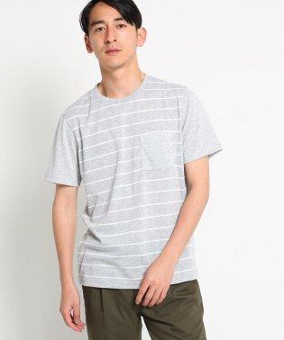 【抗菌・防臭】ポリジンボーダー切り替えTシャツ
