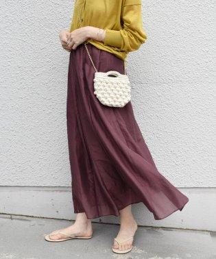 【手洗い可能】コットンシルクギャザースカート ◇
