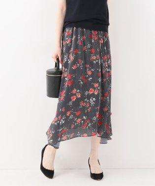 Deveaux フローラルストライプスカート