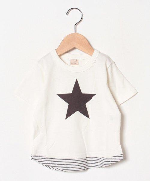 裾ボーダーTシャツ