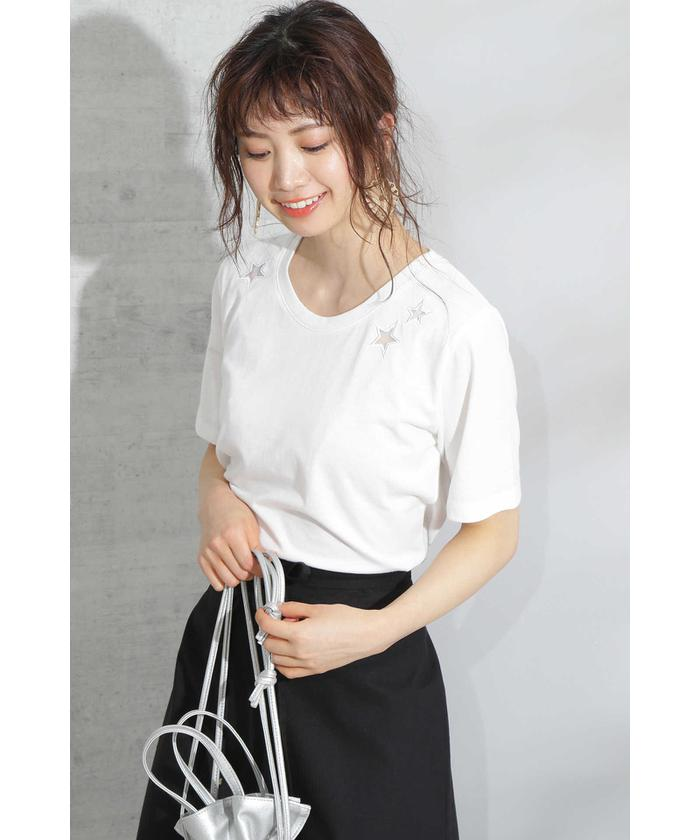 ◆スター刺繍Tシャツ