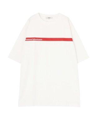 ラインプリントTシャツ