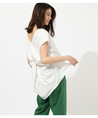 BACK TWIST FRENCH SLEEVE TOP