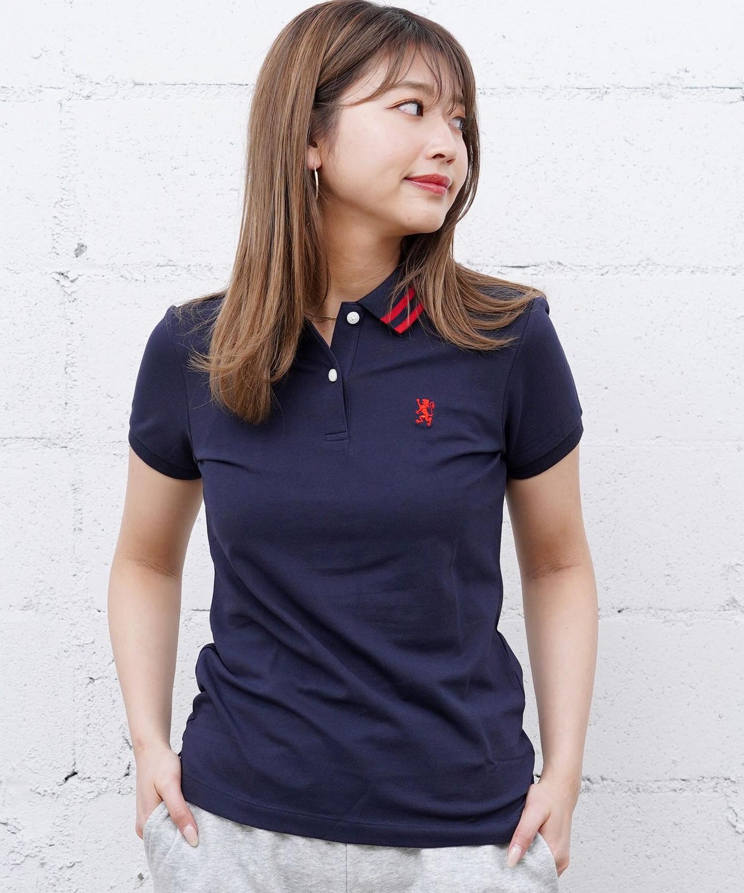 [GIORDANO]スモールライオン刺繍ポロシャツ