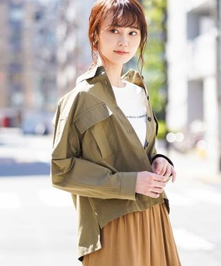 ミリタリーシャツジャケット[WEB限定サイズ]