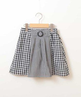 [100-130]ギンガムチェック切り替えスカート[WEB限定サイズ]