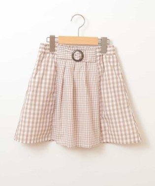 [160]ギンガムチェック切り替えスカート[WEB限定サイズ]
