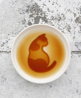 ネコ柄醤油皿