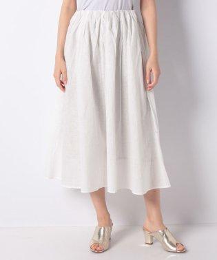 【セットアップ対応商品】綿麻ボイルタックギャザースカート