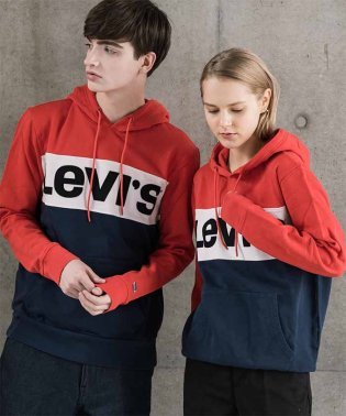 COLORBLOCK HOODIE COLORBLOCK CHINESE RED
