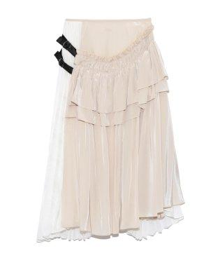 アシンメトリーレイヤードスカート