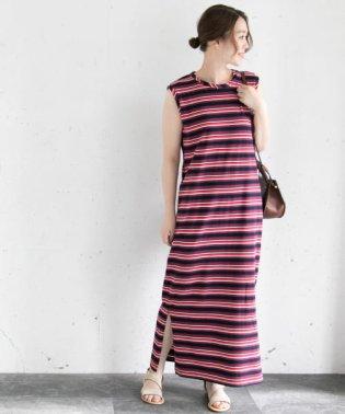 マルチボーダータンクドレス