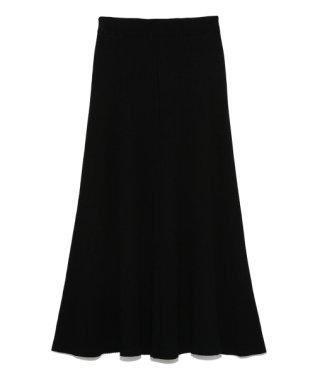 リブフレアニットスカート