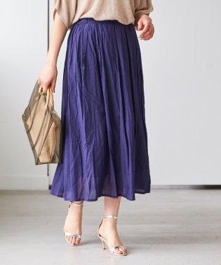コットンボイルフレアロングスカート