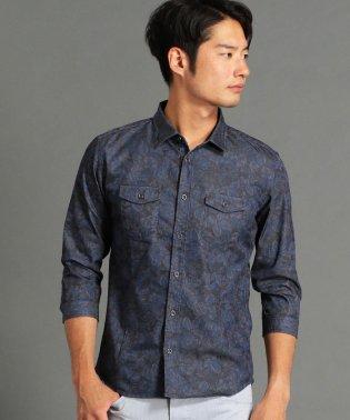 七分袖シャンブレーツイルシャツ