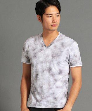 ムラ柄二重仕立てTシャツ