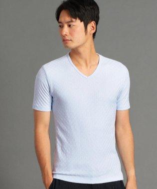 リンクス編みVネックTシャツ
