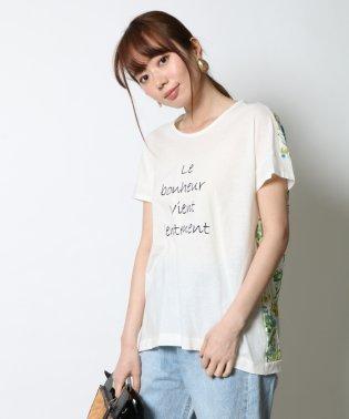 GRANDTABLE(グランターブル) バックフラワーロゴTシャツ