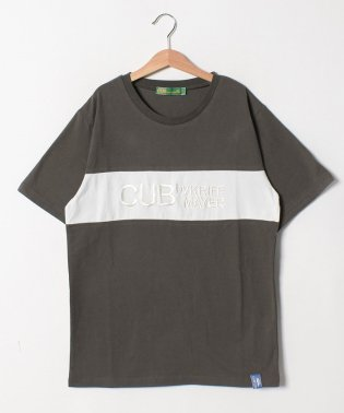配色×ロゴ刺繍TEE(170cm)