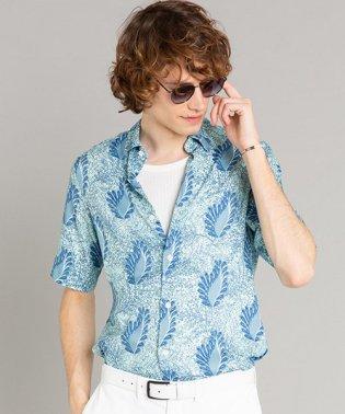 IBQ1 CHEMISE リーフプリントシャツ