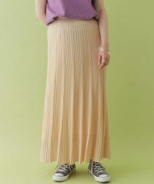 ランダムリブニットスカート