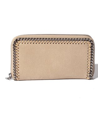 【STELLA McCARTNEY】ラウンドジップ長財布/SHAGGY DEER FALABELLA【CLOTTED CREAM】