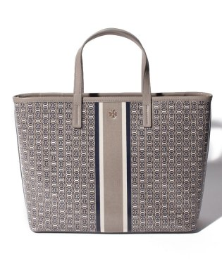 【TORY BURCH】2WAYハンドバッグ/GEMINI LINK SMALL TOTE【FRENCH GRAY GEMINI LINK STRIPE】